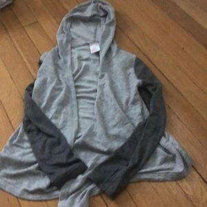 Super soft Zella girl hooded cardigan size 7/8 EUC